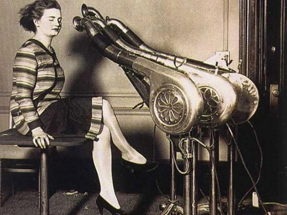 Blow dryers circa 1920