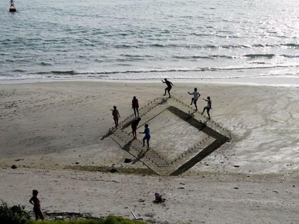 Opticke iluzije i 3D slike u pesku