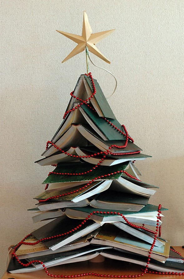 #3 Stacked Books Christmas Tree