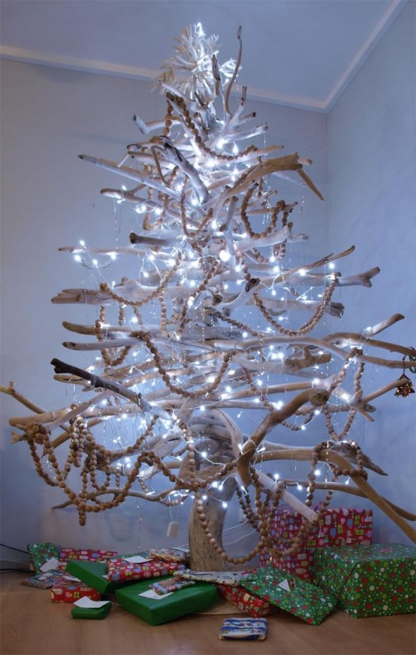 #4 Christmas Tree Made From Branches